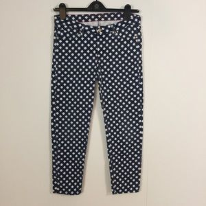 Kate Spade 29 Broome Street Jeans Blue Gingham ank